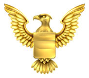 Gold Eagle Shield Stockfoto