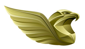 Gold eagle. On a white background stock illustration