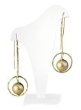 Gold earrings Stock Images