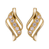 Gold earrings Stock Photos