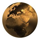 Gold earth 2 Royalty Free Stock Photography