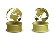 Gold Earth Award Royalty Free Stock Photos
