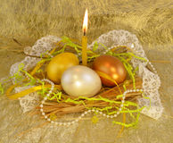 Gold Easter Stock Image