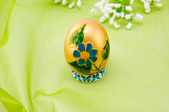 Gold Easter egg. Royalty Free Stock Photography