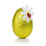 Gold Easter egg Stock Image