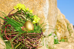 Gold easter egg Stock Photography