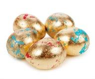 Gold easter egg  on white background Royalty Free Stock Image