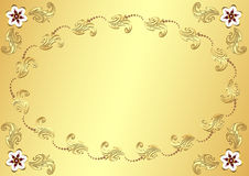 Gold Easter flower background Royalty Free Stock Photos