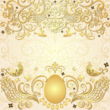 Gold easter vintage frame Stock Images