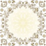 Gold easter round frame Royalty Free Stock Photo