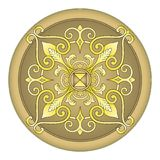Gold eastern ornament  vector Royalty Free Stock Photography