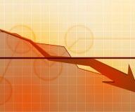 Gold Economic Background Royalty Free Stock Photography