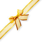 Gold Edged Ribbon and Bow Royalty Free Stock Photo
