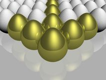 The gold egg Royalty Free Stock Image