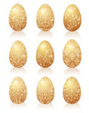 Gold egg. Stock Images