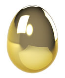 Gold egg. Royalty Free Stock Images