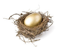 Gold egg Royalty Free Stock Image