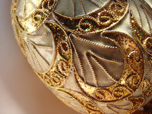 Gold Egg. A porcelain egg decorated with 24k gold trim Royalty Free Stock Photo