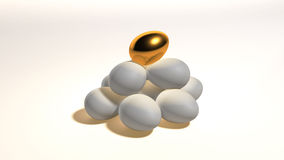 Gold egg contrast hill Stock Photography
