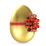 Gold egg gift Royalty Free Stock Photos