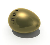 Gold egg with mark Stock Images
