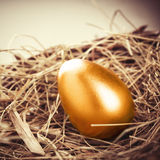 Gold Egg royalty free stock photo