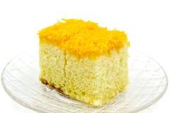 Gold egg yolk thread cake. Royalty Free Stock Image