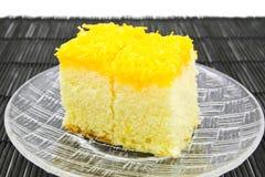 Gold egg yolk thread cake. Stock Photos