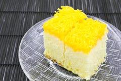 Gold egg yolk thread cake. Royalty Free Stock Photos