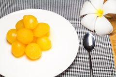 Gold Egg Yolks Drops Stock Images