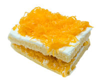 Gold egg yolks thread cake Stock Photography