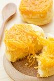 Gold egg yolks thread cake. Stock Images