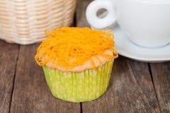 Gold Egg Yolks Thread cupcake Stock Photo
