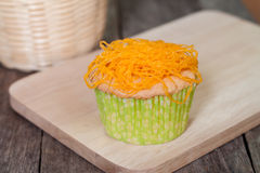 Gold Egg Yolks Thread cupcake Royalty Free Stock Images