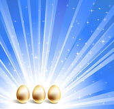 Gold eggs Stock Photo