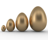 Gold Eggs on White Royalty Free Stock Photo