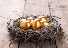 Gold Eggs royalty free stock image
