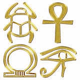 Gold egyptian symbol Stock Image