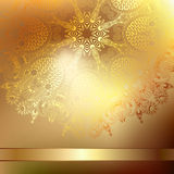 Gold elegant flower background with a lace pattern Stock Photo