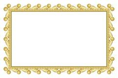 Gold elegant frame - vector Stock Image