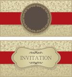 Gold elegant vector frame in Arabic pattern style royalty free illustration
