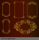 Gold Elements 10 Stock Photography