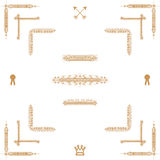 Gold  elements Royalty Free Stock Photos