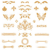 Gold elements collection Stock Photography