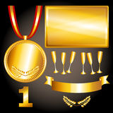 Gold elements for games and  sports Royalty Free Stock Photography