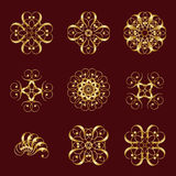 Gold Elements Royalty Free Stock Images