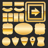 Gold elements Stock Photos