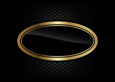 Gold ellipse Royalty Free Stock Image