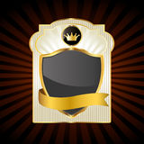 Gold emblem Royalty Free Stock Images