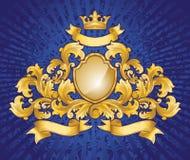 Gold Emblem Stock Photo